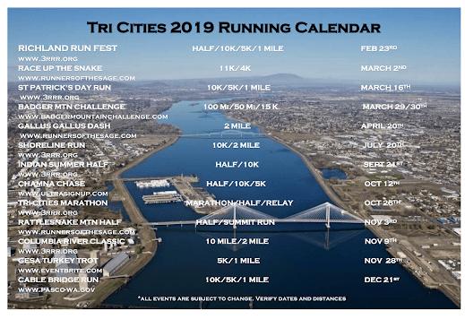 Tri City Race Calendar 2019