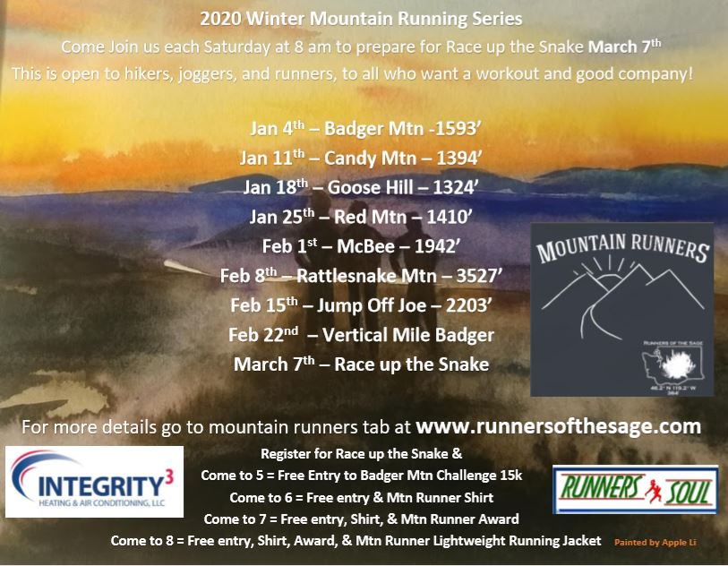 Schedule Winter Mtn Running Picture