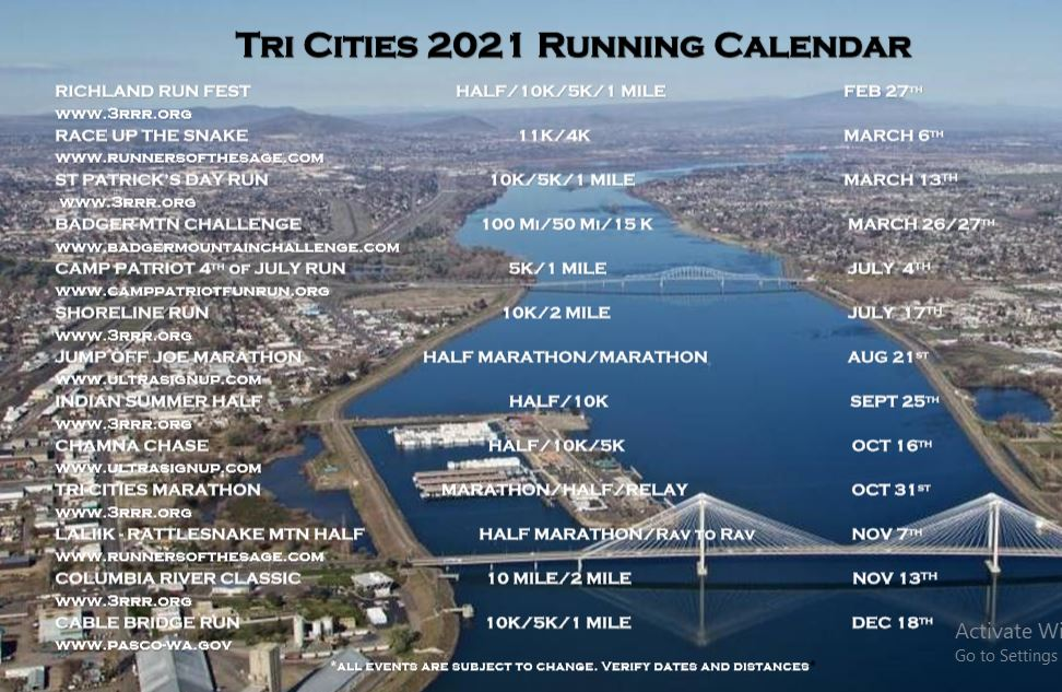 2021 Tri City Race Calendar Pic
